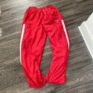 vintage zipper nike track pants